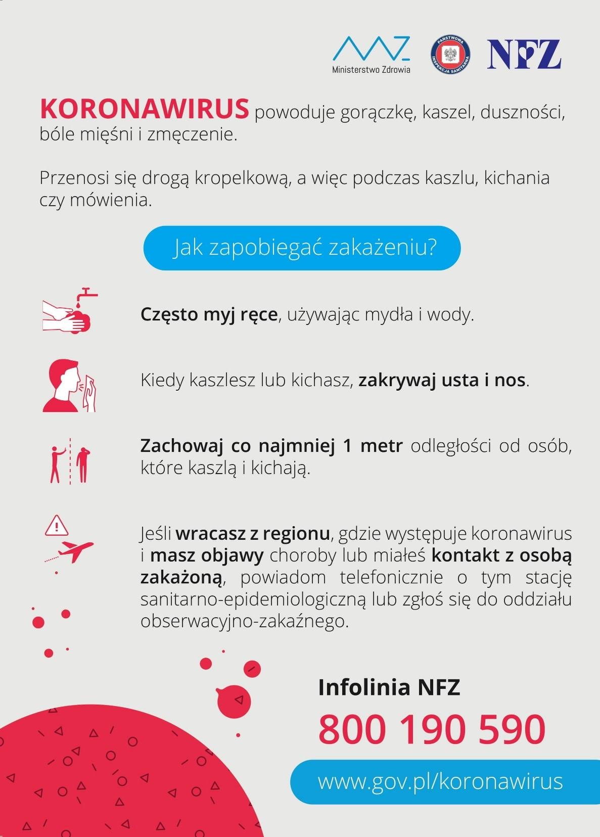 koronawirus jak zapobiegać zakażeniu